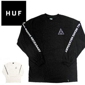 【メール便配送】ハフ Tシャツ HUFロンT エッセンシャル トリプルトライアングル ロゴ TS00506 長袖Tシャツ