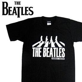 【メール便送料無料】THE BEATLES ビートルズ バンドTシャツ 半袖 BA-0016-BK Abbey Road TEE アビイロード 半袖Tシャツ