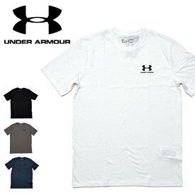 【メール便配送】UNDER ARMOUR アンダーアーマー Tシャツ 1326799 SPORTSSTYLE LEFT CHEST SS メンズ 半袖 スポーツスタイル 胸 ブランド ロゴ ワンポイント 大きいサイズ XL XXL 2XL メンズ