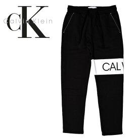 Calvin Klein カルバンクライン ロゴ 切替 スウェット パンツ 40V839 大きいサイズ 黒