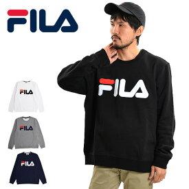 【メール便配送】FILA フィラ クルーネック フィラ トレーナー メンズ レディース スウェット 裏起毛 ビックロゴ 大きいサイズ