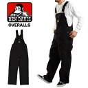 BEN DAVIS BIB OVERALL ベンデイビス オーバーオール 404 大きいサイズ 40 44 作業着 作業服 黒