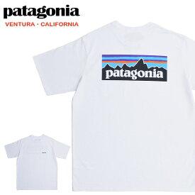 【メール便配送】Patagonia パタゴニア Tシャツ 38512 Men's P-6 logo Pocket Responsibili-Tee ロゴ ホワイト 白 WHI 大きいサイズ
