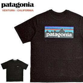 【メール便配送】Patagonia パタゴニア Tシャツ 38512 Men's P-6 logo Pocket Responsibili-Tee ロゴ ブラック 黒 BLK 大きいサイズ