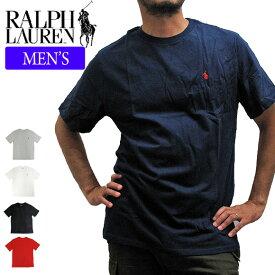 【メール便配送】【メンズ】POLO RALPH LAUREN ポロラルフローレン Tシャツ 半袖Tシャツ 674984 ONEPOINT CREW S/S TEE ワンポイント クルーネック 半袖Tシャツ