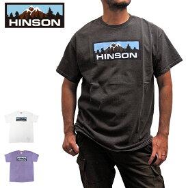 【メール便送料無料】ヒンソン HINSON 半袖 Tシャツ メンズ ボックスロゴ HINSON MOUNTAIN BOX LOGO TEE コットン 綿100% 891HD99485