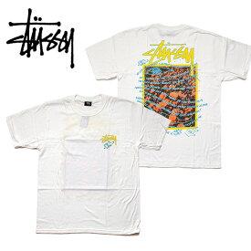 【メール便配送】STUSSY Super Bloom TEE ステューシー プリント Tシャツ 1904550 大きいサイズ シロ ホワイト