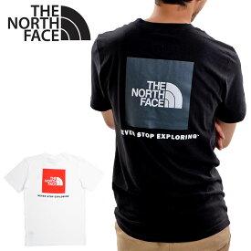 【送料無料】【メール便配送】THE NORTH FACE ノースフェイス Tシャツ NF0A4763 BOX NSE TEE ロゴT レッドボックス 半袖 大きいサイズ メンズ レディース ユニセックス