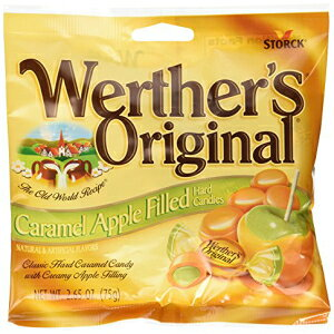 Werthersオリジナルキャラメルアップル充填ハードキャンディーパック3 Werthers Original Caramel Apple Filled Hard Candies PACK of 3