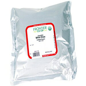 Frontier Natural Productsオーガニック粒状白玉ねぎ-1 lb Frontier Natural Products Organic Granulated White Onion - 1 lb