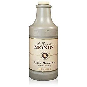 Monin-クリーミーでバターのようなグルメホワイトチョコレートソース、デザート、コーヒー、スナックに最適、グルテンフリー、非GMO(64オンス) Monin - Gourmet White Chocolate Sauce, Creamy and Buttery,