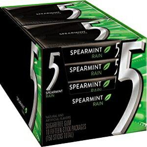 15カウント(10パック)、5ガムシュガーフリーガム、レインスペアミント、15ピースパック(10パック) 15 Count (Pack of 10), 5 Gum Sugar Free Gum, RainSpearmint, 15 Piece Pack (10 Packs)