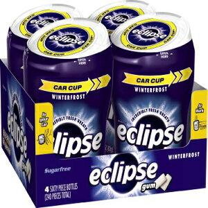 ECLIPSE Winterfrostシュガーフリーガム、60ピースボトル(4パック) Eclipse Gum ECLIPSE Winterfrost Sugarfree Gum, 60 Piece Bottle (Pack of 4)