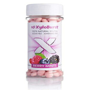 XyloBurst 100%キシリトール甘味砂糖フリーベリーキャンディミント200カウント(3パック) XyloBurst 100% Xylitol Sweetened Sugar Free Berry Candy Mints 200 Count (Pack of 3)