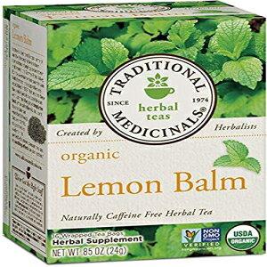 Traditional Medicinals Organic Teasレモンバーム-各16ティーバッグ/ 3パック Traditional Medicinals Organic Teas Lemon Balm - 16 Tea Bags Each/Pack of 3