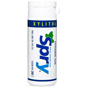 Spry Xylitol Gum、天然ペパーミント、30ct Spry Xylitol Gum, Natural Peppermint, 30ct