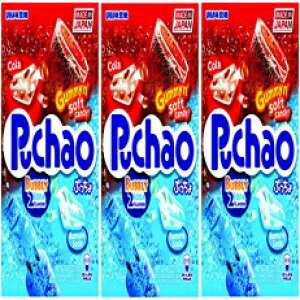 Puchao Gummy n 'Soft Candy、コーラとラムネのソーダ風味、3.53オンス、3パック Puchao Gummy n' Soft Candy, Cola and Ramune Soda Flavors, 3.53 oz, Pack of 3