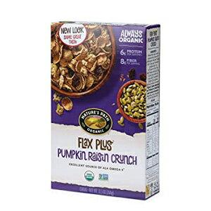 ネイチャーズパスオーガニックシリアル、フラックスプラス12.35オンスボックス、パンプキンレーズンクランチ Nature's Path Organic Cereal, Flax Plus 12.35 Ounce Box, Pumpkin Raisin Crunch