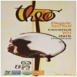 Theo Chocolateオーガニックダークチョコレートとトーストココ