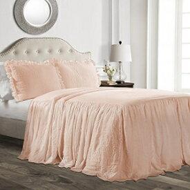 Lush Decor Ruffle Skirt Bedspread Blush Shabby Chi