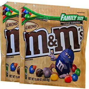 M&Ms Limited Edition Strawberry Nut / M&Msアーモンドリシール可能ジッパーファミリーサイズ(アーモンド、2) M&Ms Limited Edition Strawberry Nut / M&Ms Almond Resealable Zipper Family Size (Almond, 2)