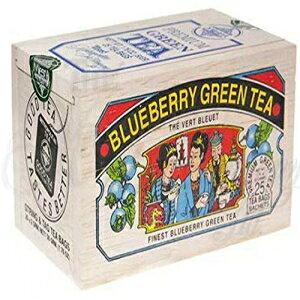メトロポリタンブルーベリーグリーンティー-柔らかい木製の箱に