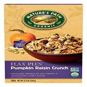 ネイチャーズパスオーガニックシリアル、フラックスプラスパンプキンレーズンクランチ、12.35オンスボックス(6パック) Nature's Path Organic Cereal, Flax Plus Pumpkin Raisin Crunch, 12.35 Ounce Box (Pack of 6)