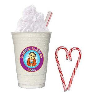 ホワイトチョコレートスムージーミックス-ブレンドアイスコーヒー-フラッペパウダーミックス-ホワイトチョコレート Buddha Bubbles Boba White Chocolate Smoothie Mix - Blended Ice Coffee - Frappe Powder Mix - Whit