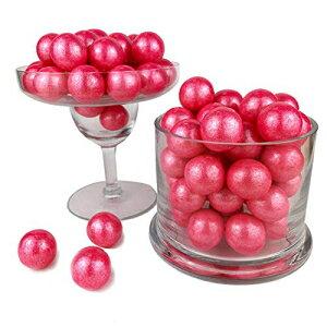 Color Itキャンディシマーブライトピンク1インチガムボール2ポンドバッグ-テーブルのセンターピース、結婚式、誕生日、キャンディビュッフェ、パーティーの記念品に最適です。 Color It Candy S