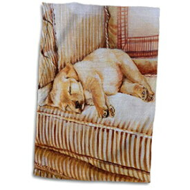 3D Rose Little Yellow Lab Puppy Sleeping in The