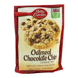 Betty Crocker Cookie Mix, Oatmeal Chocolate Chip, 17.5-oz Pouches (Pack of 6)