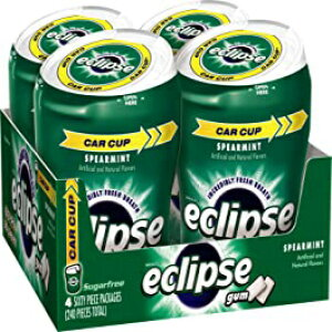 ECLIPSEスペアミントシュガーフリーガム60ピースボトル(4パック) Eclipse Gum ECLIPSE Spearmint Sugarfree Gum, 60 Count (Pack of 4)