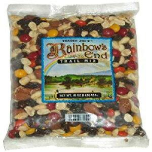 トレーダージョーのレインボーズエンドトレイルミックス-チョコレート、ピーナッツ、レーズン、アーモンド(1パック、16オンス) Trader Joe's Rainbow's End Trail Mix - Chocolate, Peanuts, Raisins, and Almon