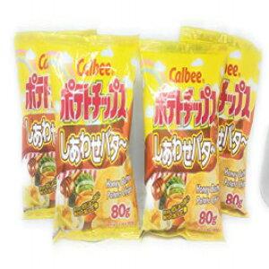カルビーハニーバターポテトチップス80g、4パック Calbee Honey Butter Potato Chips 80g, 4 Pack