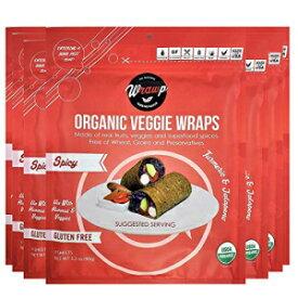 WrawP Mini Spicy 8 Pack Raw Organic Veggie Wraps