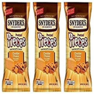 スナイダーズオブハノーバー、チェダーチーズプレッツェルピース、12オンスバッグ(3パック) Snyders Snyder's of Hanover, Cheddar Cheese Pretzel Pieces, 12oz Bag (Pack of 3)