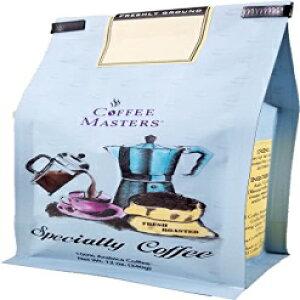 コーヒーマスターズフレーバーコーヒー、チョコレートラズベリー、ホールビーン、12オンスバッグ(4パック) Coffee Masters Flavored Coffee, Chocolate Raspberry, Whole Bean, 12-Ounce Bags (Pack of 4)