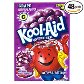 Kool Aid Grape Drink Mix(0.14オンスパケット、48パック) Kool-Aid Kool Aid Grape Drink Mix (0.14 oz Packets, Pack of 48)