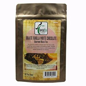 スペシャルティーオレンジバニラホワイトチョコレート紅茶、20カウント Special Tea Orange Vanilla White Chocolate Black Tea, 20 Count