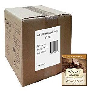 ヌミオーガニックティーチョコレートプーアール、ティーバッグ100カウントボックス、紅茶 Numi Organic Tea Chocolate Pu-erh, 100 Count Box of Tea Bags, Black Tea