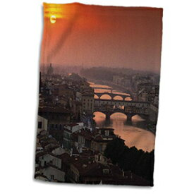 3D Rose Italy Tuscany. Central Florence at Sunset.