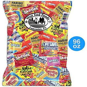 キャンディー(6ポンド)バラエティパックには、サワーパッチツイズラースウェーデンのフィッシュスキットルズオタクスイートタルトスターバーストライフセーバーグミとゴールドベアグ
