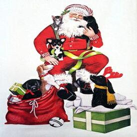 Mary Lake Thompson Christmas Puppy Dog Santa Claus