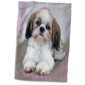 3D Rose Shih Tzu Puppy Towel, 15 x 22