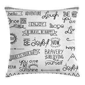 Ambesonne Adventure Throw Pillow Cushion Cover, Various Wo