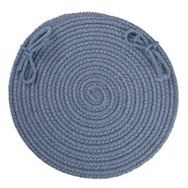 Solid Wool Chair Pad, Sailor Blue