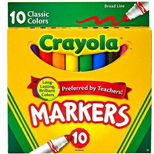 Crayola Broad Line Markers, Classic Colors 10 Eac