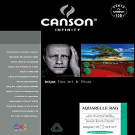 Canson Infinity Aquarelle Rag Fine Art Watercolor Paper, 8.5 x 11 Inch, White, 25 Sheets