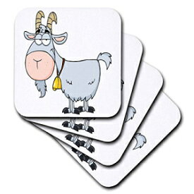 3dRose CST_118516_1 Cartoon Billy Goat Funny Animal