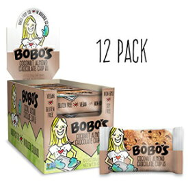 Bobo's Oat Bars (Coconut Almond Chocolate Chip, 12 Pack of 3 oz Bars) Gluten Free Whole Grain Rolled Oat Bars - Great Tasting Vegan On-The-Go Snack, Made in the USA